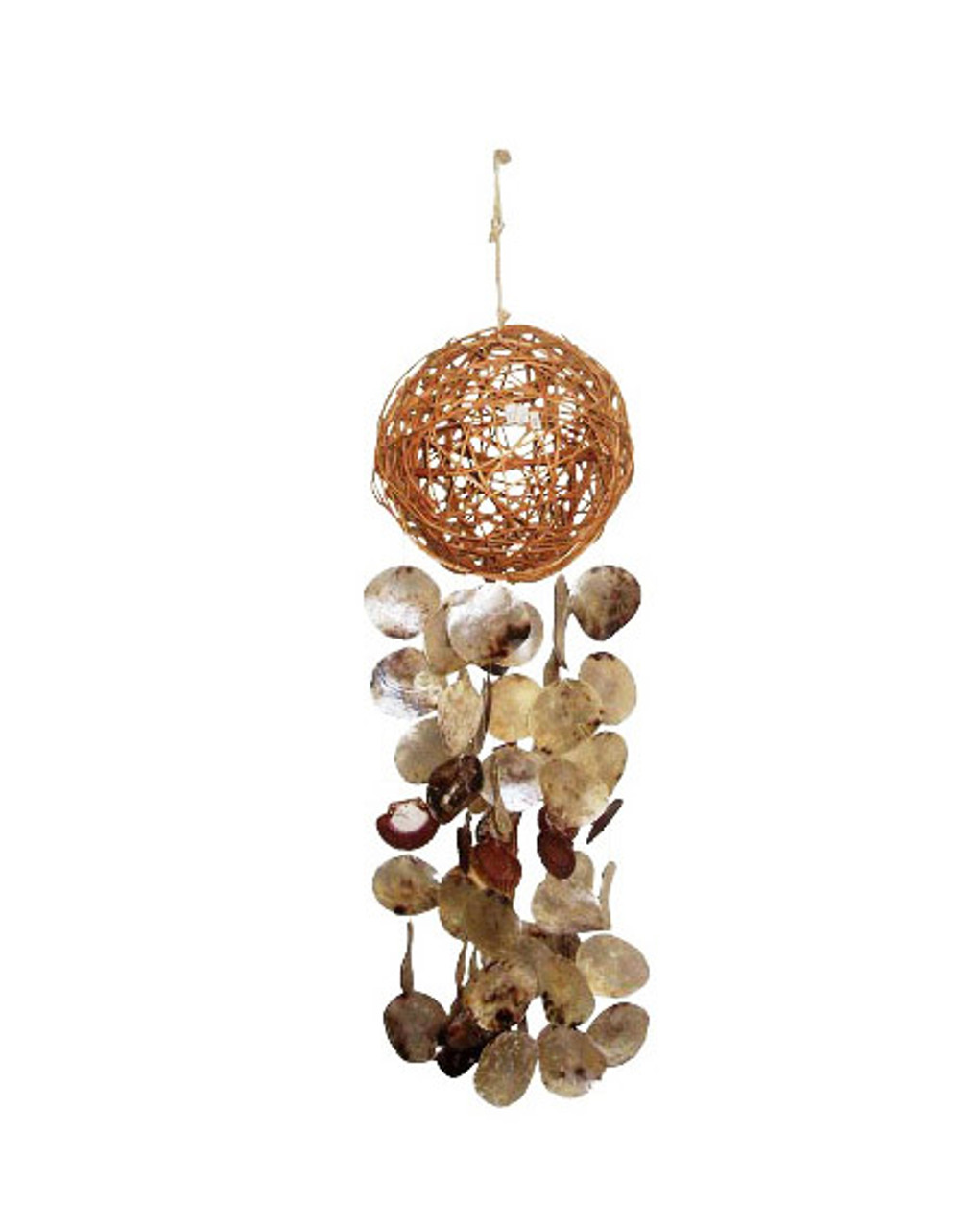 "40"" Sigid Ball Windchime w/ Saddle Oysters & Flats"