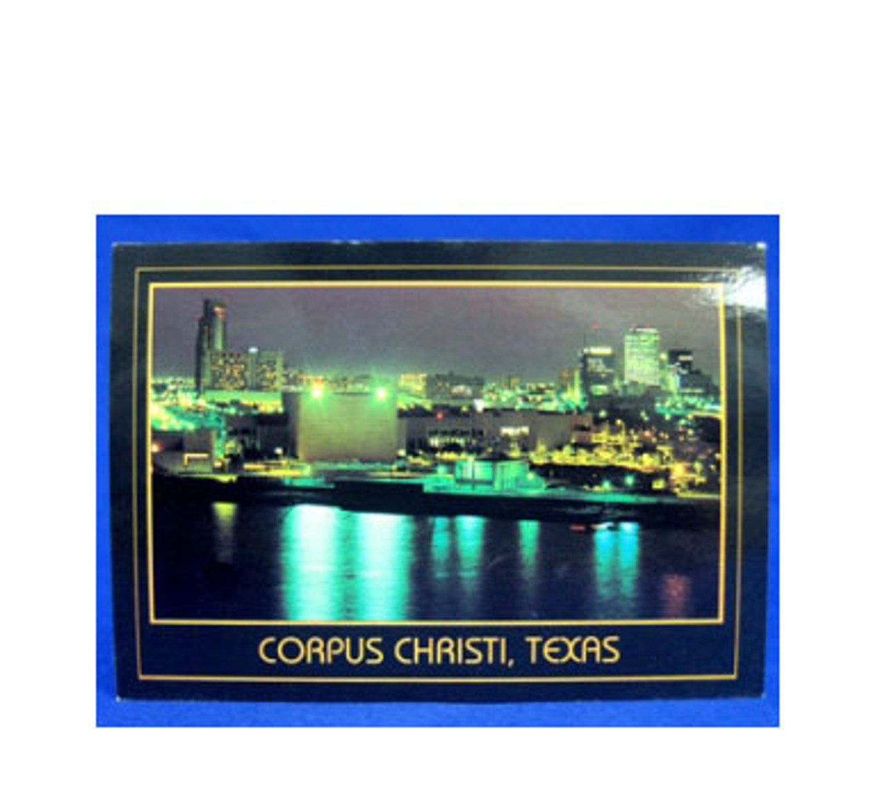 Corpus Christi Sparkling Night Postcard