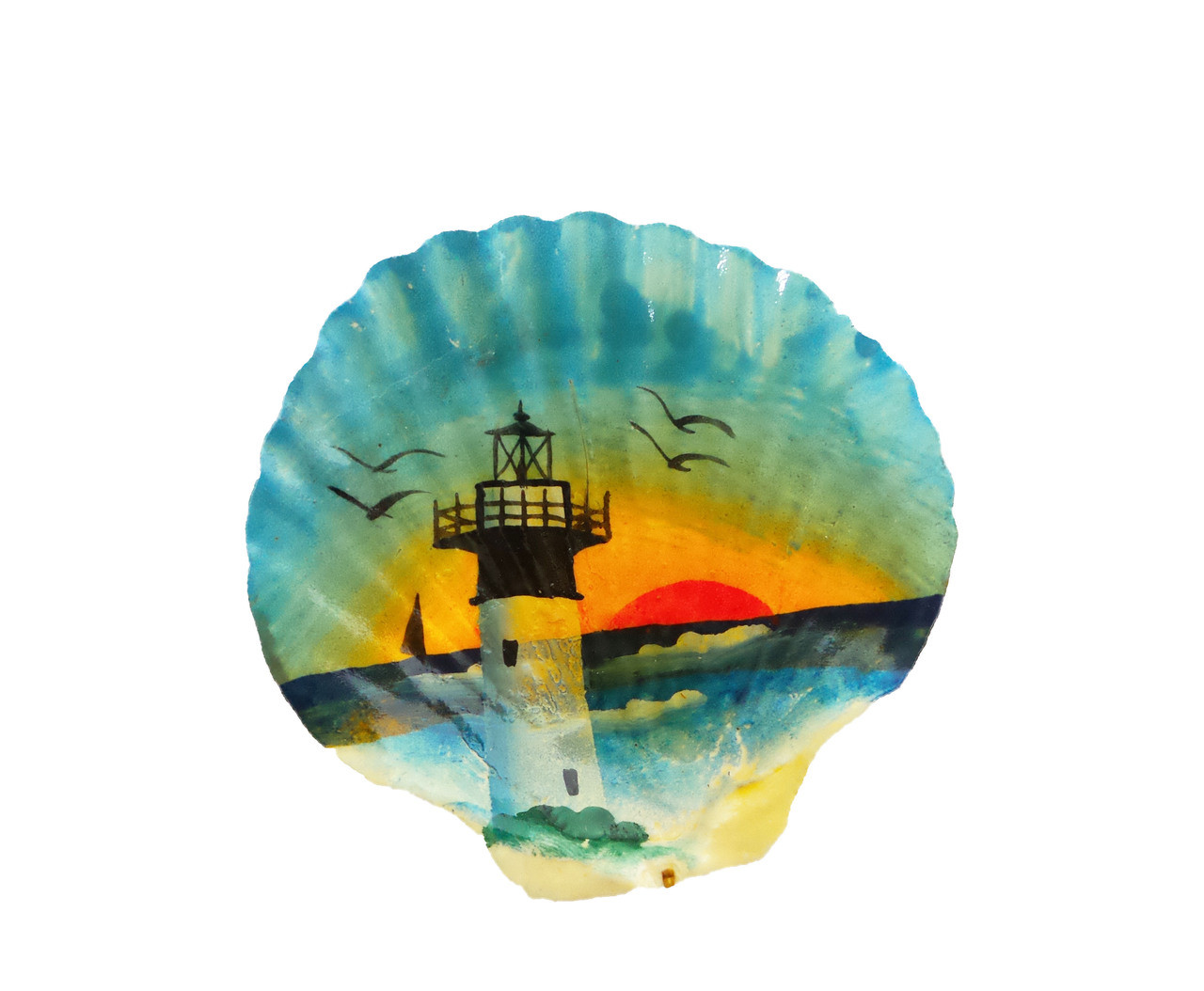 Hand Painted Scallops Seashell- Assorted Designs