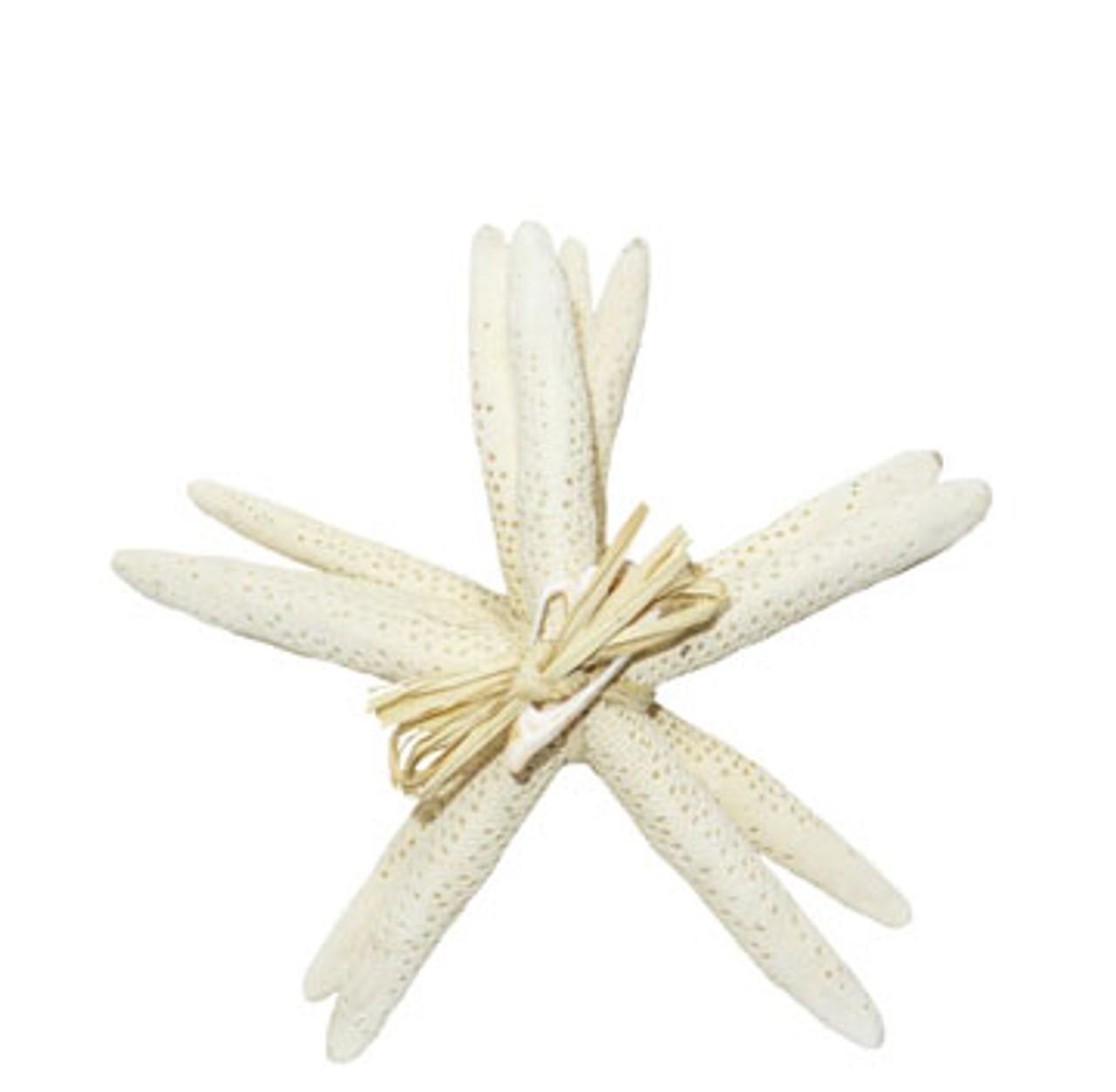 """White Finger Stars 8-10"""" Set of 4-gift bundle"""