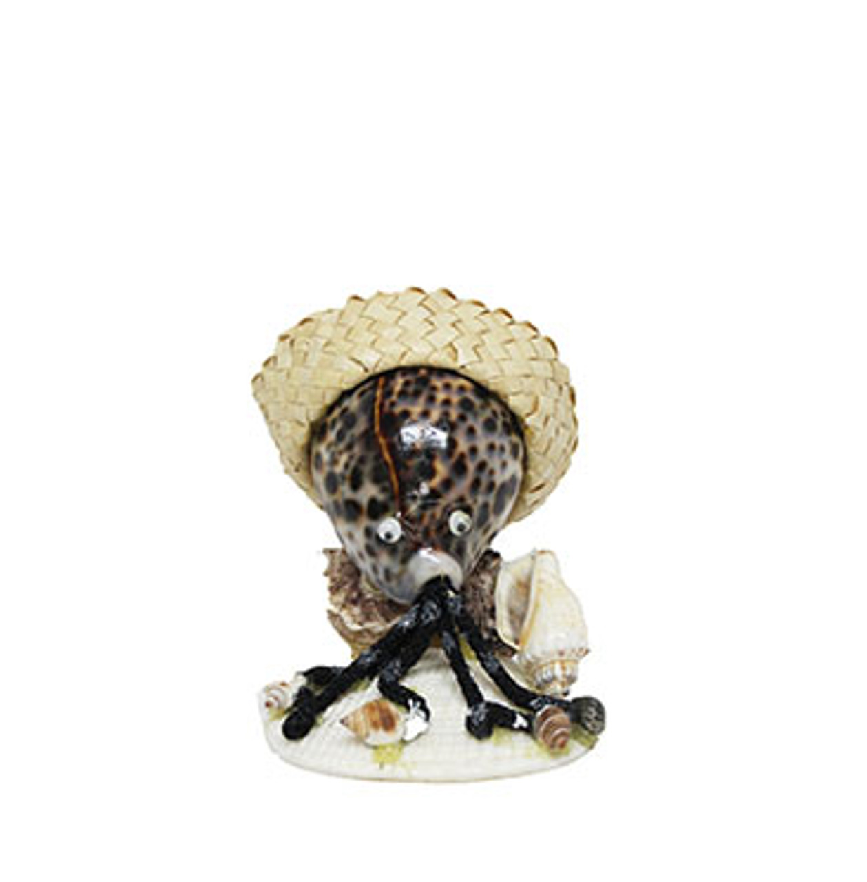Tiger Cowrie Octopus With Hat