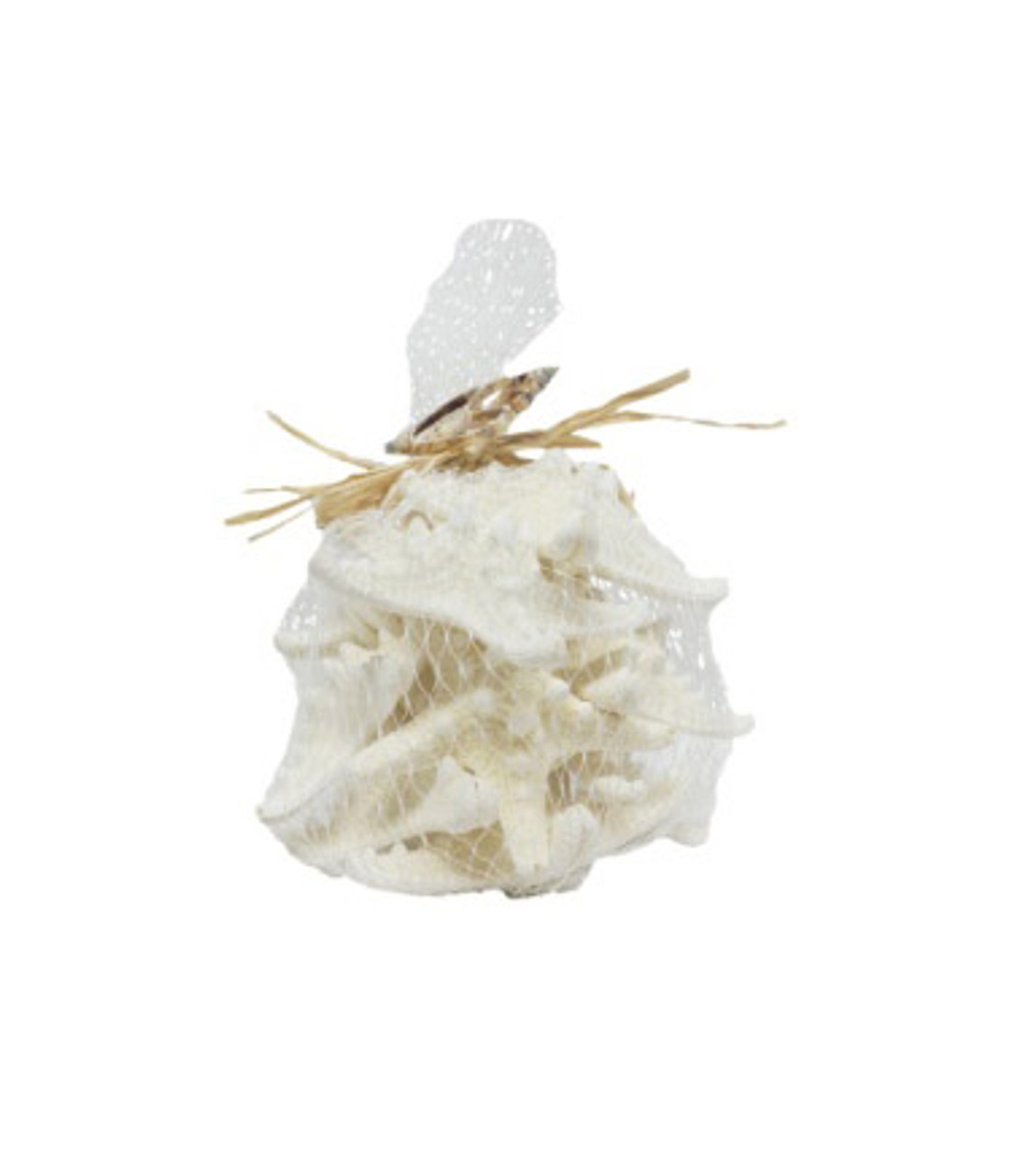 Armoured Starfish-Mesh Bag W/Raffia/Slice