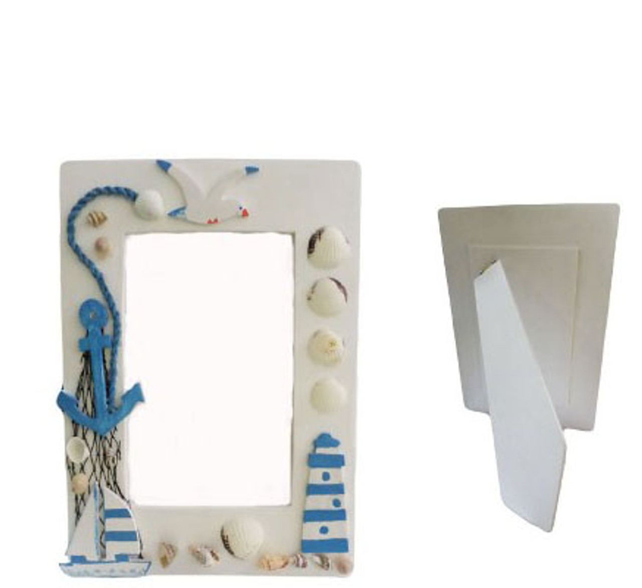 Picture Frame With Assorted Seashells