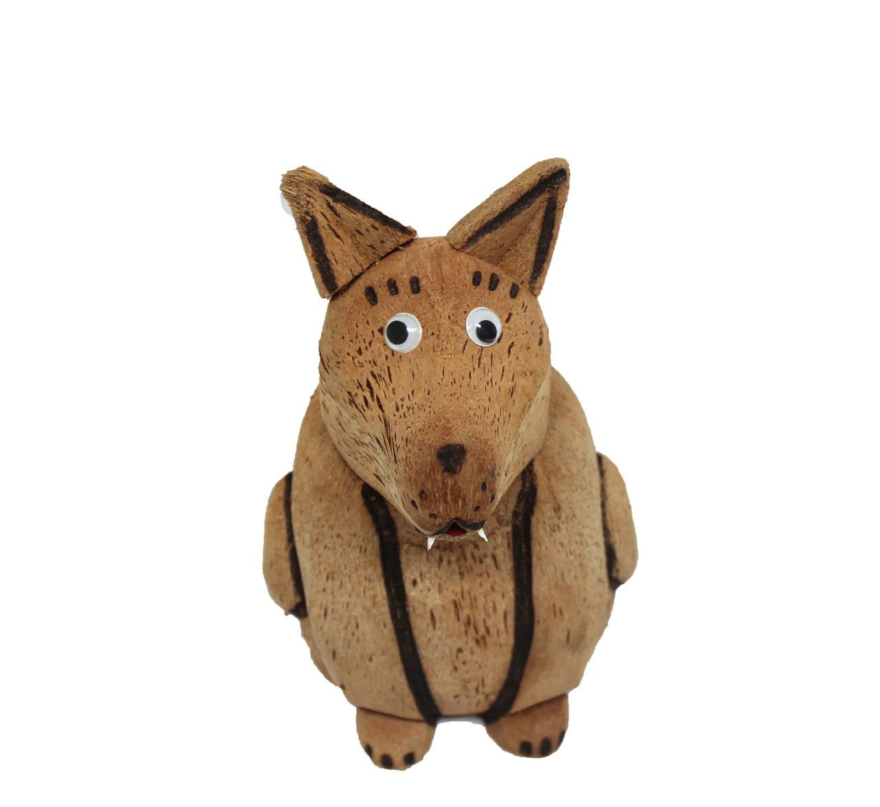 Carved Coconut Dog