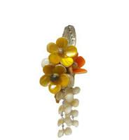 Flower Seashell  Arrangement with Magnet