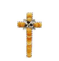 Cross with Orange Pecten Seashells