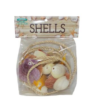 Garland w/Assorted Shells w/Header