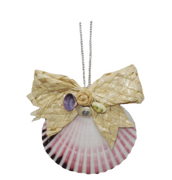 Pecten with Caycay Rose Ornament