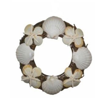 Vine & Grass Wreath-Seashells & Stars