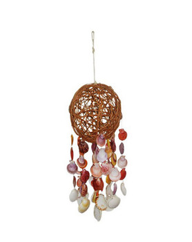 Sigid Ball Windchime w/ Pecten Nobilis & Irish Deep Scallop Seashells