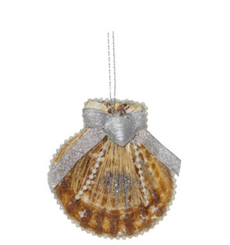 Radula W/ Abaca Ribbon Ornament