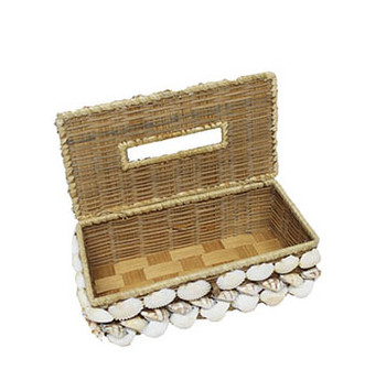 Buri Seashells Tissue Box Holder
