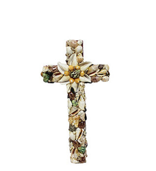Cross with Assorted Seashells