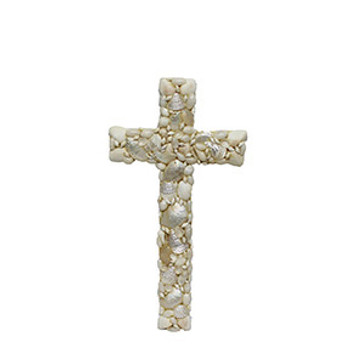 Cross with Assorted White Seashells