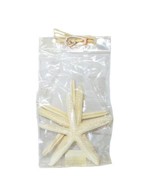 "Finger Starfish 5-6""- Set of 4 in bag- W/Raffia"
