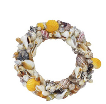 Round Seashells Wreath 10""