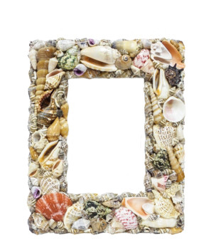 Seashells Picture Frame 8x10""
