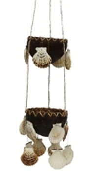 Coco Plant Hanger w/Radula Seashells