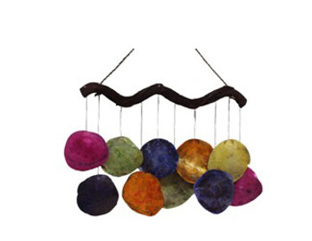 Saddle Oyster Windchime Ass't Colors 18""