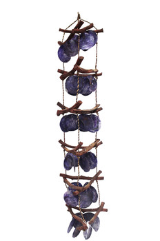 Curly Vine With Violet Saddle Oyster Wind Chime