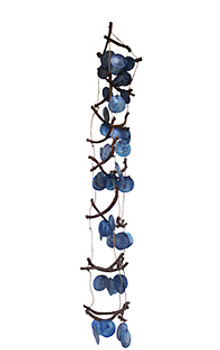 Curly Vine With Blue Saddle Oyster Wind Chime