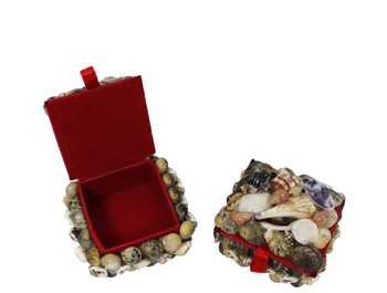 Mini Square Jewelry Box- Nerite