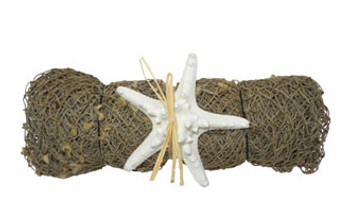Decorative Net Roll W/White Armoured Starfish