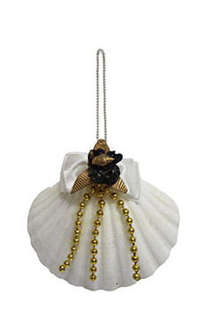 White Scallop Ornament