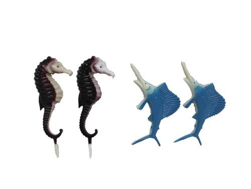 Plastic Sailfish and Seahorse