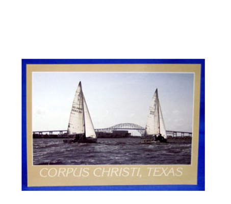Corpus Christi Sailboat Postcard