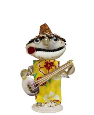 Tiger Cowrie Seashell Guitarist