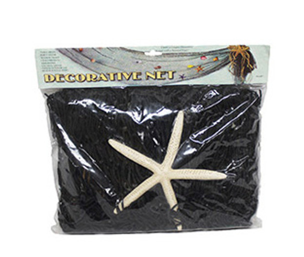 Black Decorative Net 4 x 8 W/Starfish