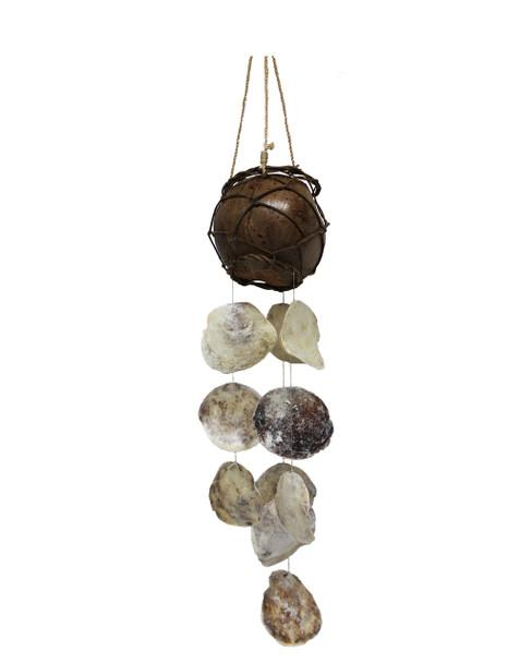 Coco Plant Hanger/Saddle Oyster Windchime