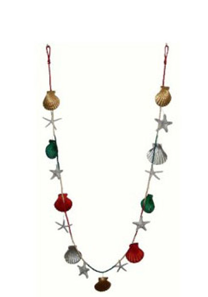 Christmas Garland 6 Ft. (Silver, red, green)