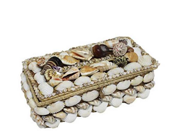 Buri Seashells Tissue Box Holder