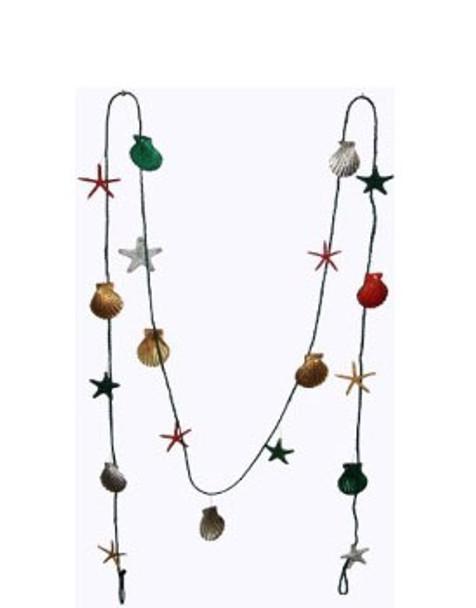 Christmas Garland W/Seashells
