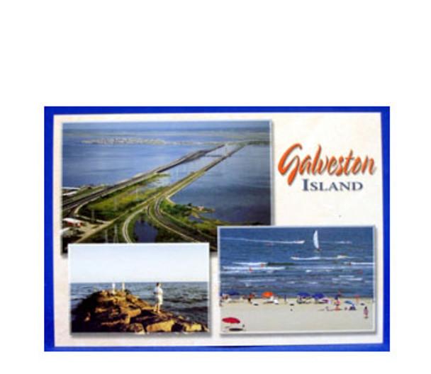 Collage of Galveston Island Postcard
