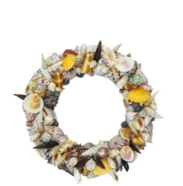 Round Seashells Wreath 12""