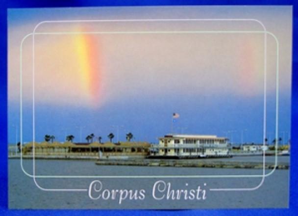 Corpus Christi Rainbow Postcard