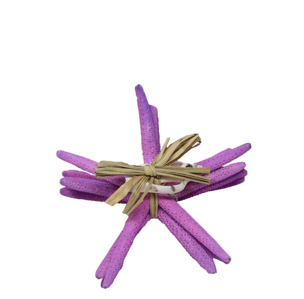 "Dyed Mauve Finger Stars Gift Bundle 4- 5"""