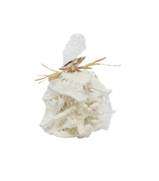 Armoured Starfish-Mesh Bag W/Raffia & Slice
