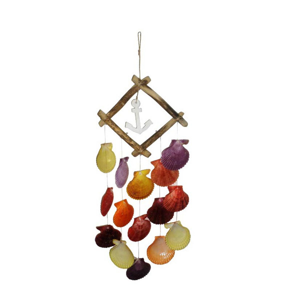 Driftwood With Color Nobilis Windchime