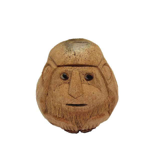 Carved Coconut Old Monkey