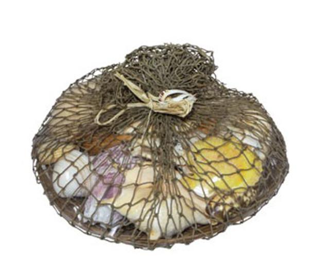 "14"" Midrib Basket Shell Pack W/Decorative Net"