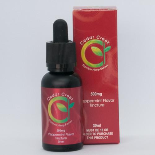 CBD 0% THC Tincture – 500mg – Peppermint Flavor