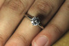 Platinum Classic Engagement Ring GIA SI1 F 1 Carat Good Cut
