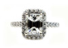 Emerald Cut Engagement Ring GIA Certified Diamond 1.51 VVS2 G