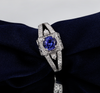Tanzanite Ring Antqiue Design with Natural Diamonds