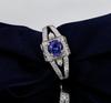 Tanzanite Ring Antqiue Design with Natural Diamonds