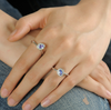 Beautiful Two Tanzanite Stackable Rings